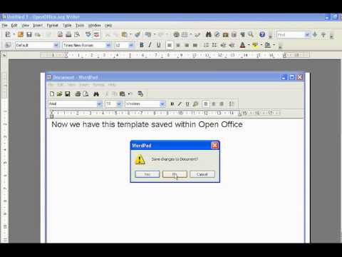 Open Office How To Create Templates
