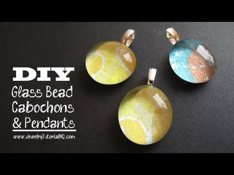 Glass and Paper Cabochon Pendants Tutorial