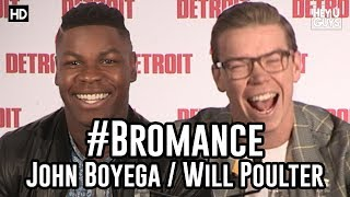 The first time John Boyega met Will Poulter