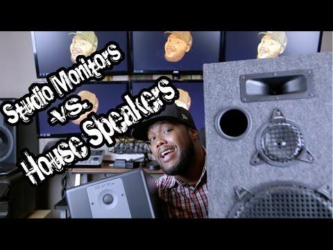 Studio Monitors vs. House Speakers