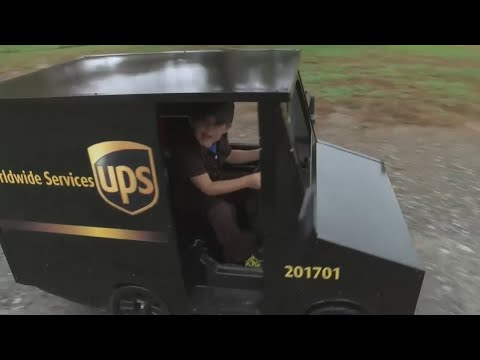 Little Boy Gets His Own UPS Truck