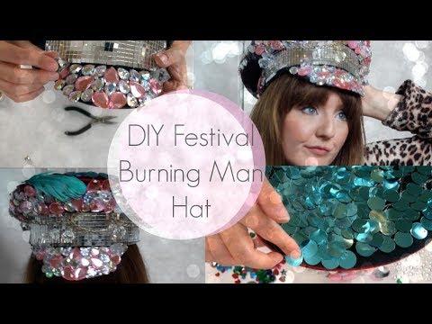 DIY Festival Embellished Burning Man Captain Hat