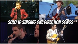 Harry, Liam, and Niall singing 1D songs as solo artists