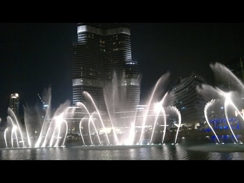 Burj Khalifa & Fountain Show (Night)