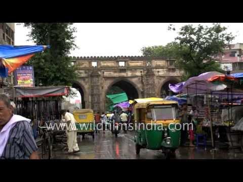Teen Darwaja and Lal Darwaja Market in Gujarat