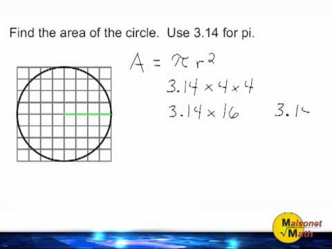 Using A Grid To Find The Area Of A Circle