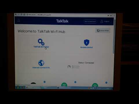 Web admin interface of the TalkTalk Wi-Fi Hub Wireless router. How do you turn off wifi?