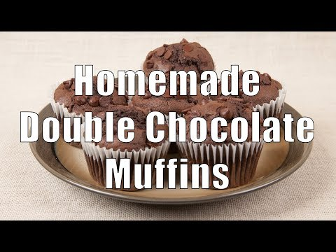 Easy Homemade Double Chocolate Muffins - Home Cooking 101