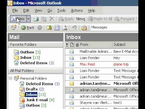 Microsoft Office Outlook 2003 Print a list of messages contacts, or tasks