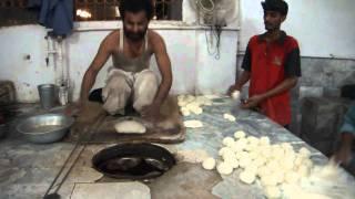 Making Naan at a restaurant