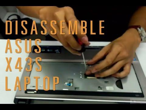 Asus X43S laptop take apart/disassemble