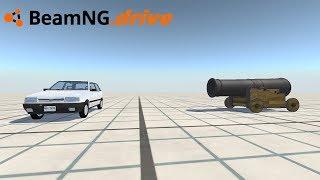 BeamNG drive - FIAT UNO VS CANHÃO.
