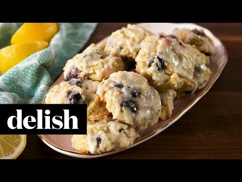 Blueberry Cream Cheese Cookies | Delish
