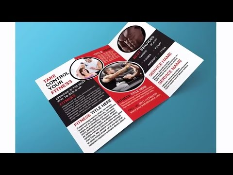 Indesign Tutorial: Creating a Trifold Brochure in Adobe InDesign and MockUp in Adobe Photoshop