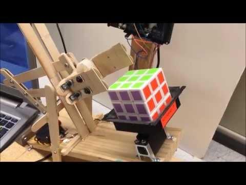 Autonomous Rubik's cube solver using Pixy camera