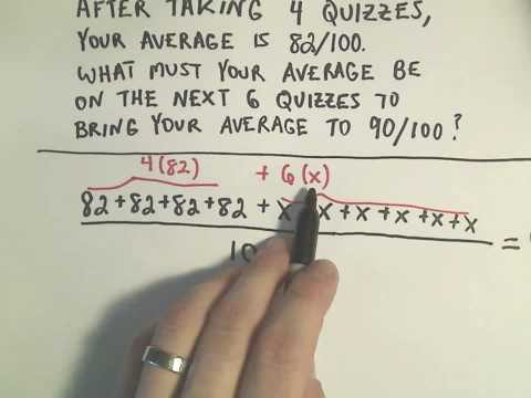 Averages:  Finding an Average Grade You Need to Make to Bring Your Grade up to a Desired Amount