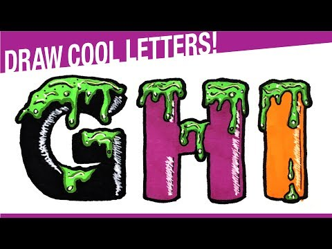 How To Draw 3D Letters GHI For Halloween! Draw Halloween Stuff!