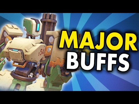 Overwatch Updates - BASTION the Tank BUSTER! MAJOR BASTION BUFFS! (Finally!)