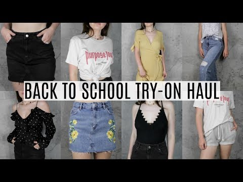 BACK TO SCHOOL HAUL 2017 | Try-On Clothing Haul