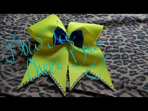 How to Make a Bow Tie Cheer Bow || Custom Bow 3