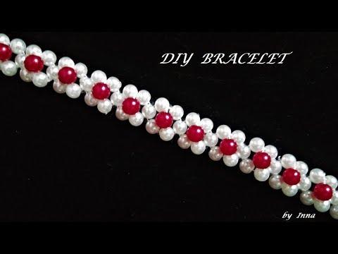 DIY 10 minutes beaded bracelet. Beginners beaded bracelet pattern.