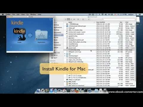 How to download Kindle ebook into Mac Windows