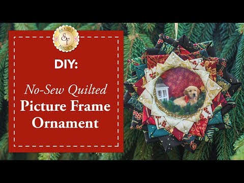 DIY No-Sew Quilted Picture Frame Ornament   a Shabby Fabrics Christmas DIY Craft Tutorial
