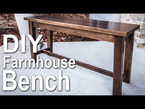 How to Build a Farmhouse Bench