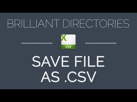 How to Save Excel Spreadsheet as a CSV File