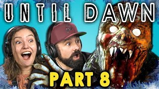 CRAZED MOUNTAIN ZOMBIE!? | UNTIL DAWN - Part 8 (React: Let