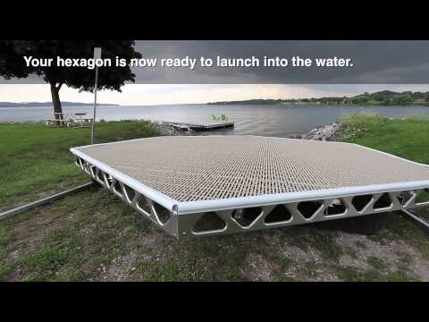 CanadaDocks™ Hexagon Floating Dock Kit