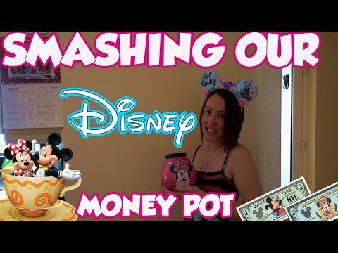 Smashing Our DISNEY Money Pot Open | How much did we save for Florida?
