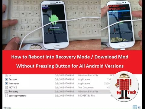 How to Reboot into Recovery Mode / Download Mod Without Pressing Button for All Android Versions