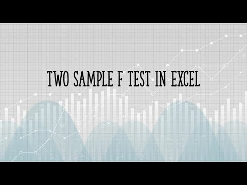 How to run a two sample f test in Excel 2013