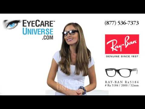 Ray Ban Rx 5184 2000 Shiny Black 52mm Quick Review