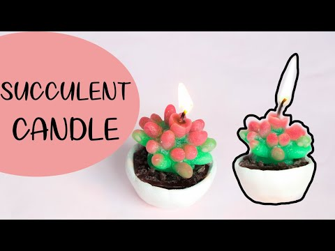 SUCCULENT CANDLE | EASY CANDLE MAKING WITH MOLDS |