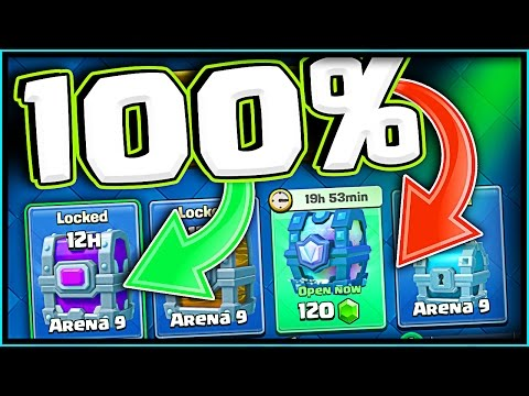 100% CHANCE! • LEGENDARY CHEST AND EPIC CHEST! • Clash Royale