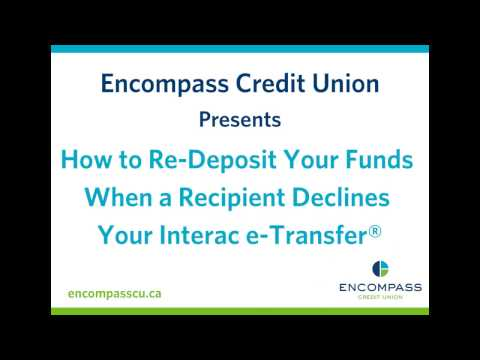 How to Re-Deposit Your Funds When a Recipient Declines Your Interac e-Transfer®