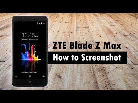 ZTE Blade Z Man Pro How to take a Screenshot