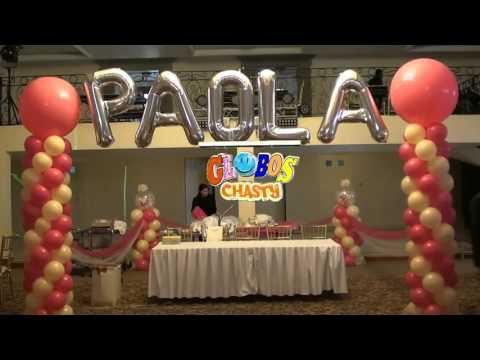 decoracion para xv aÑos globos chasty,qihto - videostube