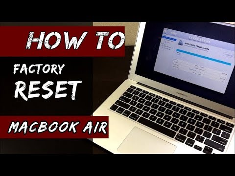 HOW to Factory Reset MacBook AIR/ No Disc/  [2018]