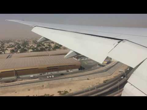 Emirates Boeing 777-300ER Windy Landing at Dubai International Airport EK164