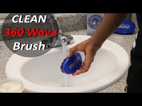How to Clean your 360 Wave Process Brush: 3WP Brush