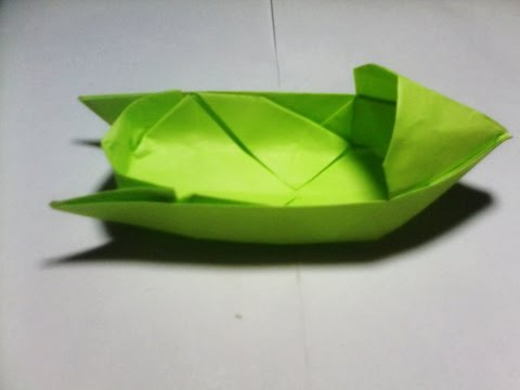 Paper Folding - How To Make Boat 3D - Origami Boat Tutorial