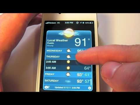 How to view the hourly weather forecast on iOS 5
