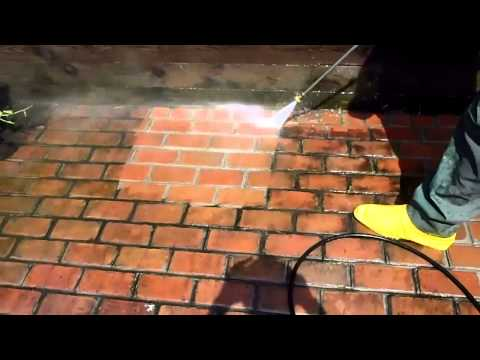 Pressure Wash Brick Patio