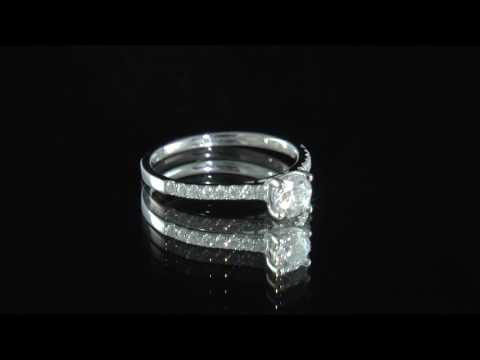 0.70ct Round Cut Diamond Side Stone Engagement Ring SD037