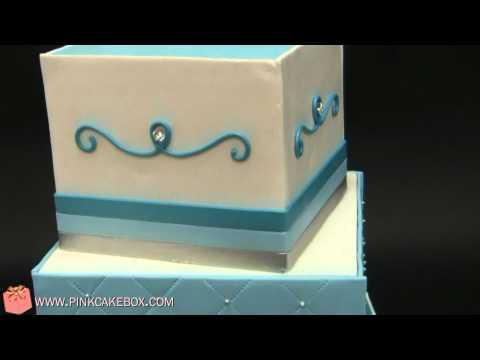 Deep Turquoise Bat Mitzvah Cake