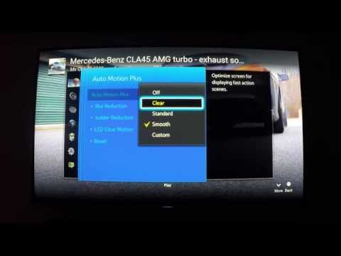 Eliminate Soap Opera Effect!  Samsung 4k UHD Smart TV