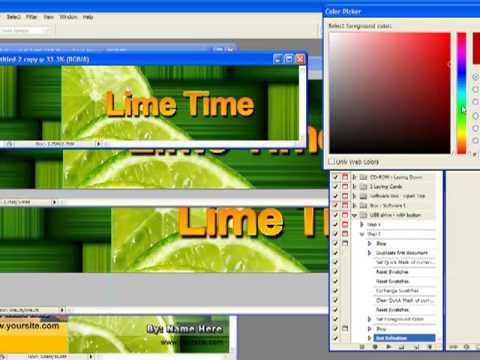 USB Drive Photoshop Action